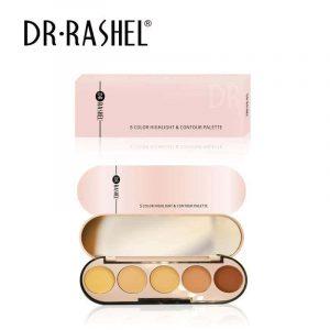 Dr.Rashel 5 Color Highlight & Contour Palette