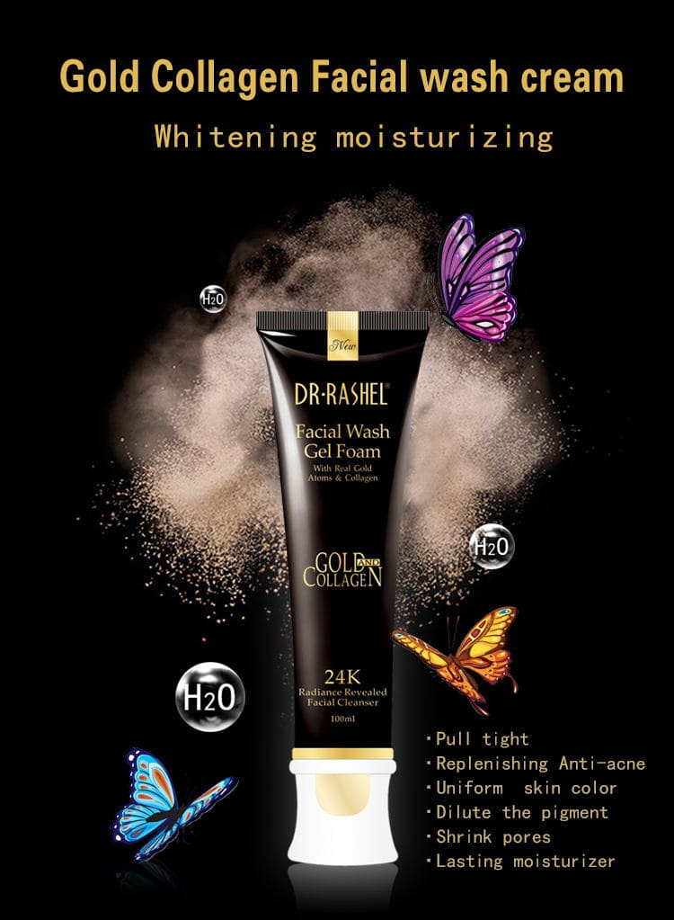 Dr Rashel 24K Gold Facial Wash Gel Foam – Dr. Rashel Pakistan