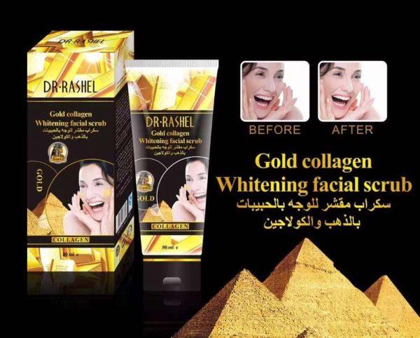 Dr Rashel 24K Gold Collagen Whitening Facial Scrub